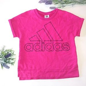 Adidas 3 Stripe Logo Sweatshirt Size XL (16) Pink
